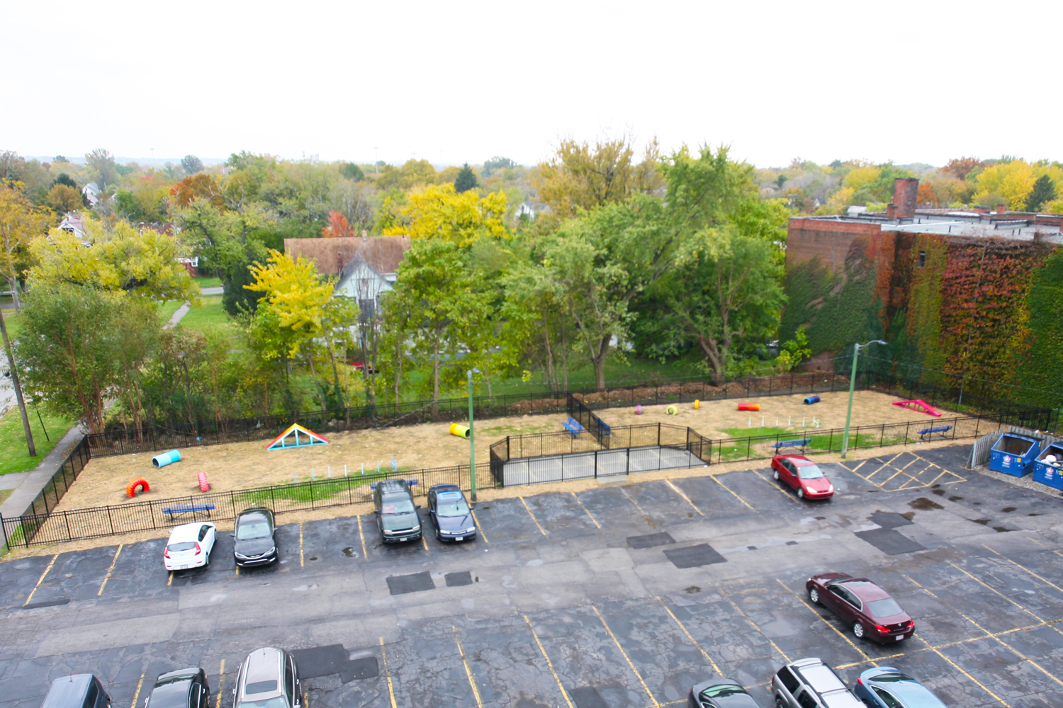 View of Parking Lot and dog Park